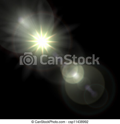 Light flare special effect. vector illustration. - csp11438992
