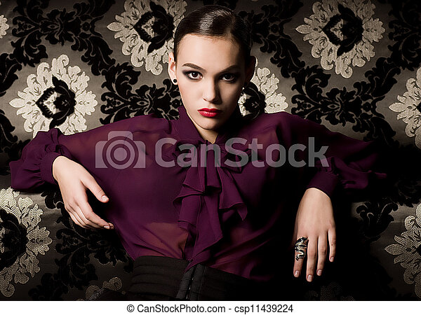 woman in fashion clothes - csp11439224