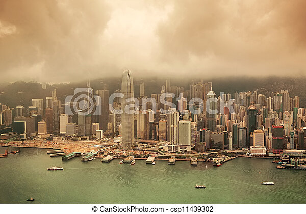 Hong Kong aerial view - csp11439302