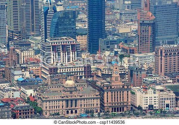 Shanghai aerial view - csp11439536