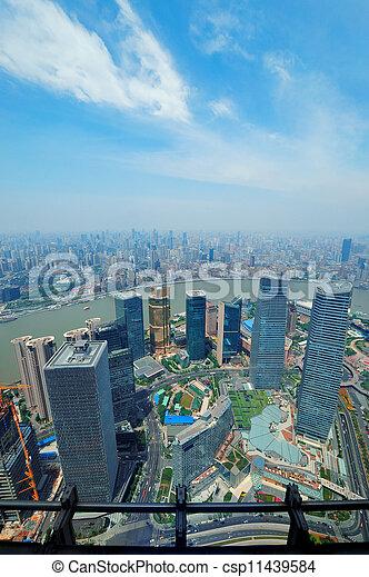 Shanghai aerial  - csp11439584
