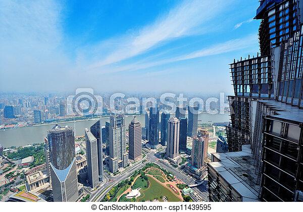 Shanghai aerial - csp11439595