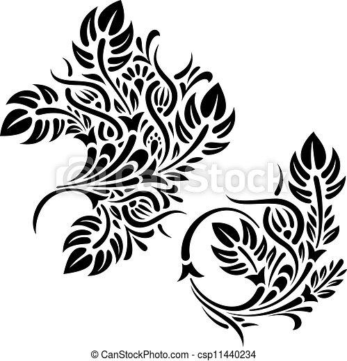Vectors Of Floral Design Patterns Vector Illustration