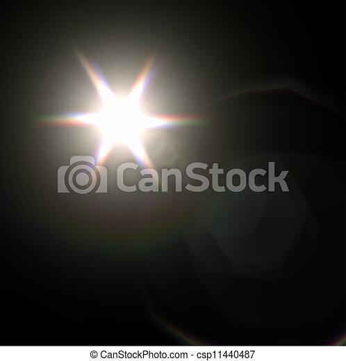 Light flare special effect. vector illustration. - csp11440487