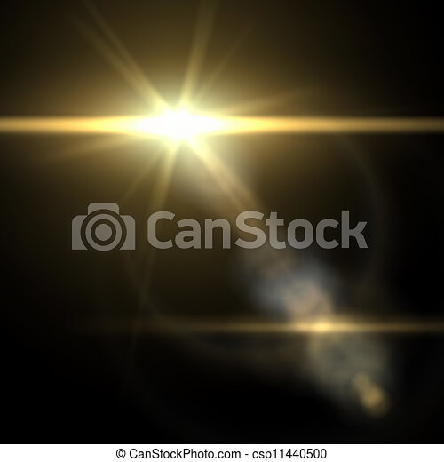 Light flare special effect. vector illustration. - csp11440500