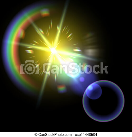 Light flare special effect. vector illustration. - csp11440504
