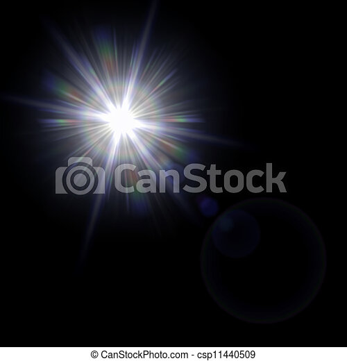 Light flare special effect. vector illustration. - csp11440509