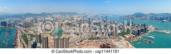 Hong Kong aerial view - csp11441181