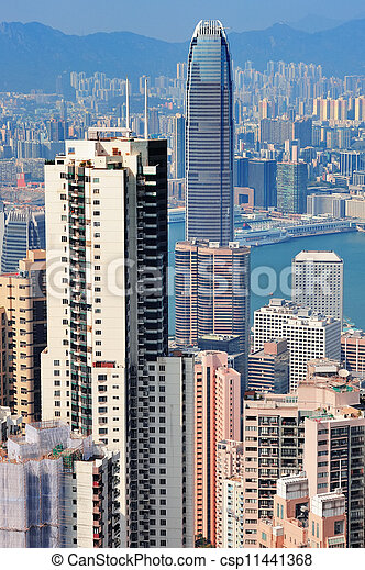 Hong Kong aerial view - csp11441368