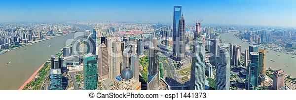 Shanghai aerial panorama - csp11441373
