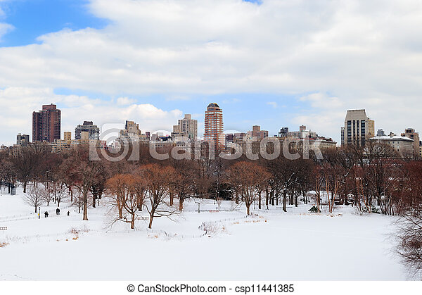 New York City Manhattan Central Park in winter - csp11441385