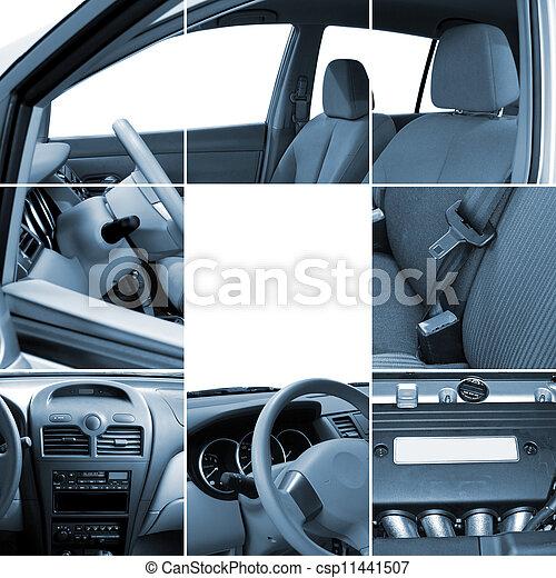Collage of car interior details - csp11441507