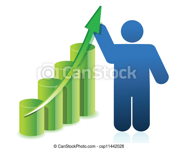 business icon graph illustration de - csp11442028