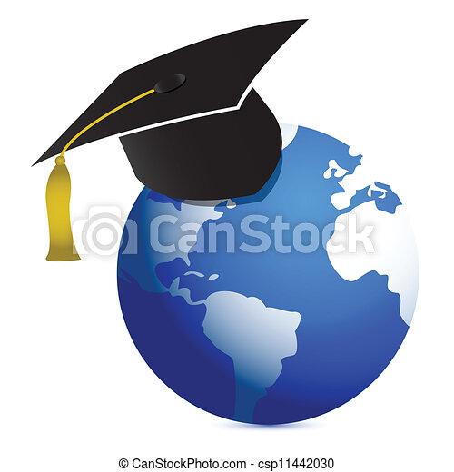 education around de globe illustrat - csp11442030