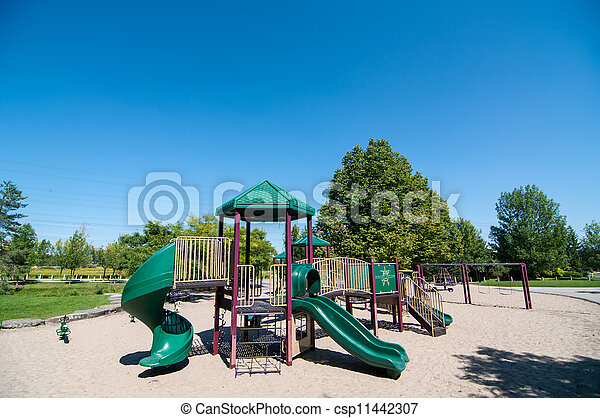 Playground Equipment in a Public Park - csp11442307