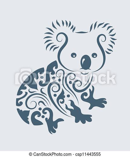 vecteur tribal vecteur koala