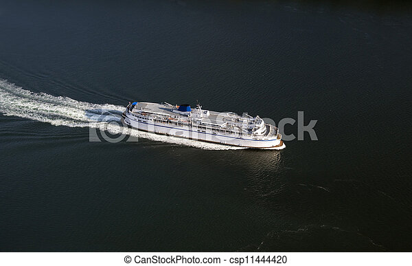 Ship on the sea - aerial - csp11444420