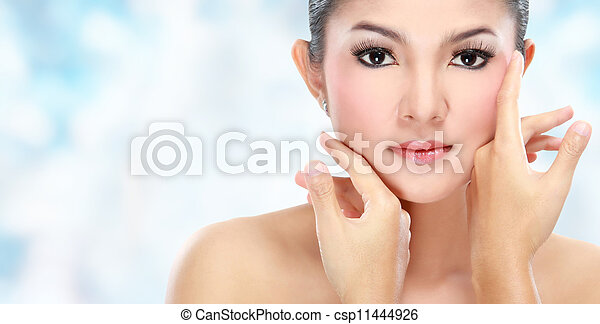 Beautiful woman face - csp11444926