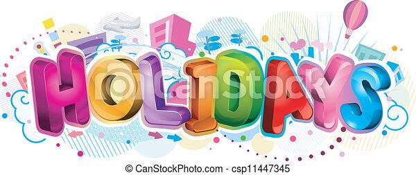 Holidays Design - csp11447345