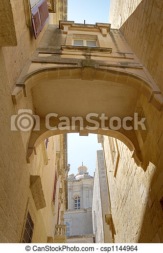House Bridge in Mdina HDR - csp1144964