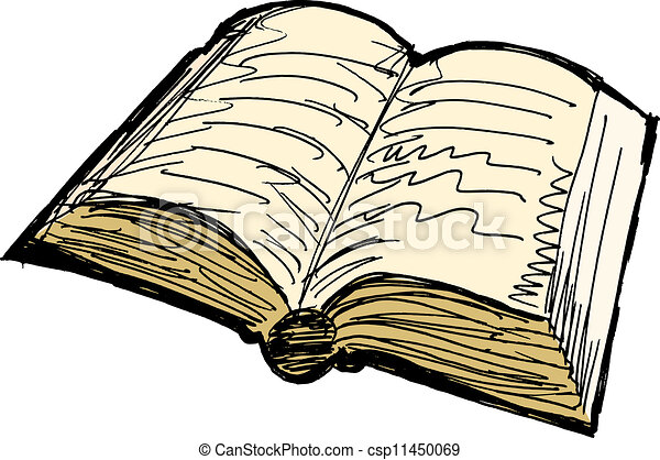Clip Art Vector of Old book csp11450069 - 38.4KB