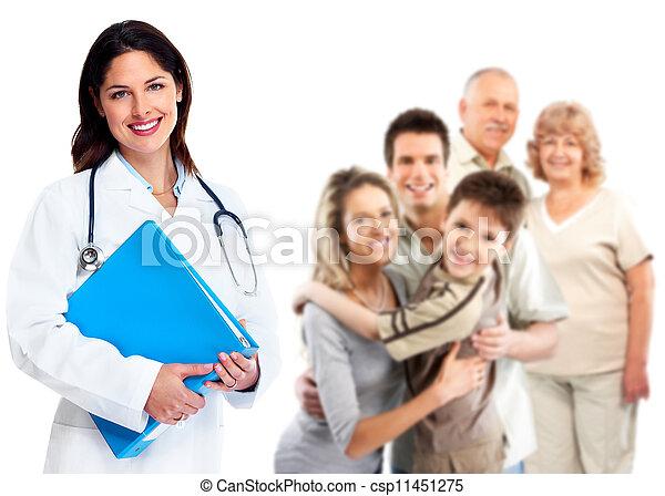 mulher, saúde, cuidado, família, doutor - csp11451275