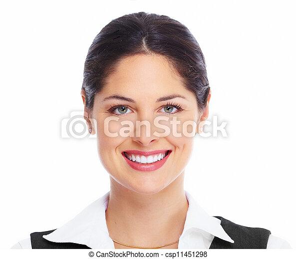 Beautiful woman face. - csp11451298