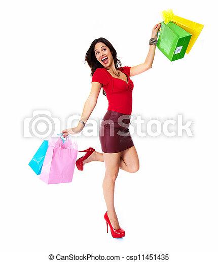 Shopping woman. - csp11451435