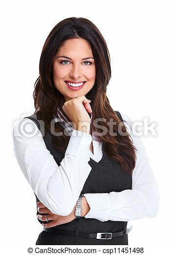 hermoso, mujer, joven, empresa / negocio - csp11451498