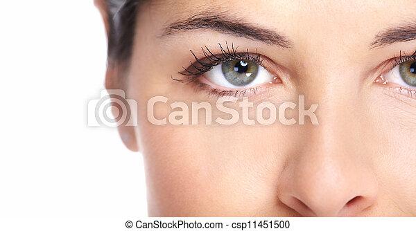 Beautiful woman face. - csp11451500