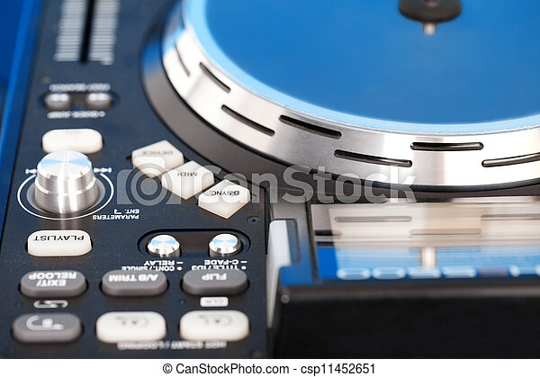 Detail of a DJ turntable - csp11452651