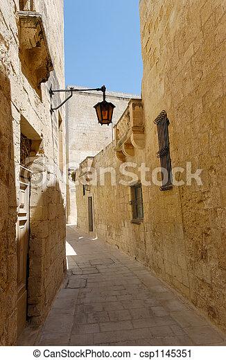 Silent Street of Mdina - csp1145351