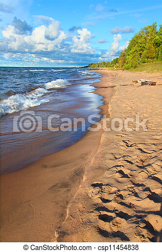 Michigan Lake Superior Beach - csp11454838