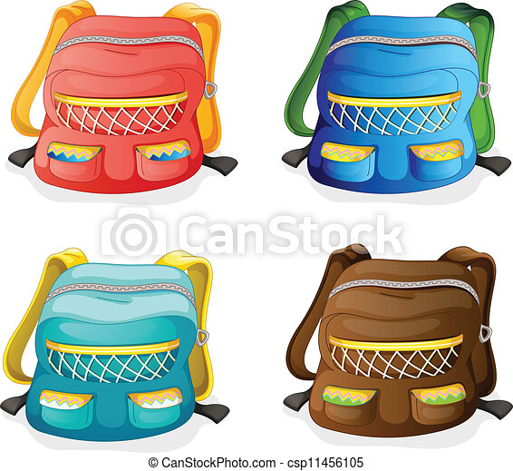 Vector Clipart of school bags