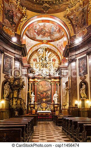 plaatje van barok interieur kerk heilige francis praag kerk csp11456474 zoek naar. Black Bedroom Furniture Sets. Home Design Ideas