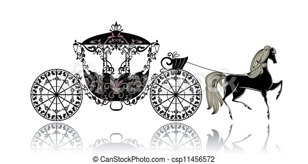 Horse And Carriage Logo Vintage Carriage With Horse