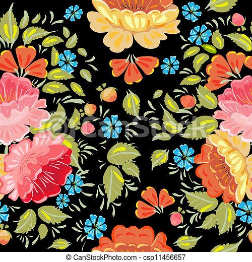 background seamless style Khokhloma - csp11456657