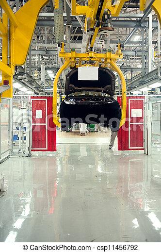Automobile assembly shop - csp11456792