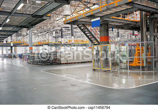 Automobile assembly shop - csp11456794
