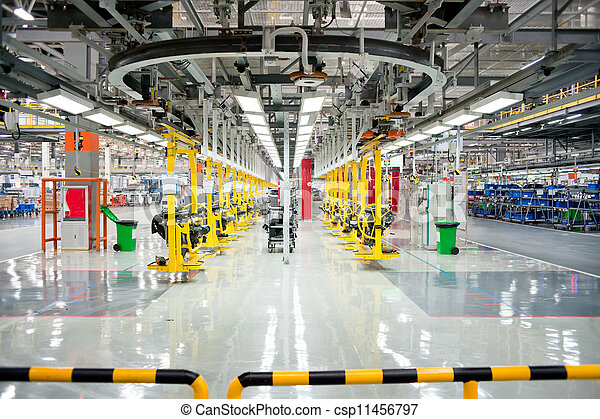 Automobile assembly shop - csp11456797