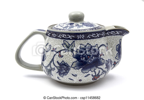 Pictures of Chinese tea pot isolated on white background ...