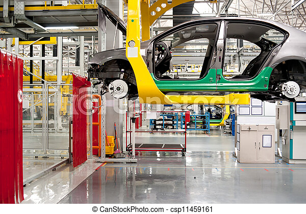 Automobile assembly shop - csp11459161