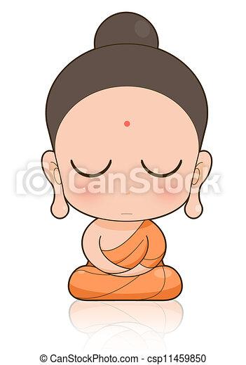 bouddhiste moine dessin anim