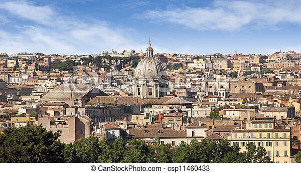 Rome historic center city  - csp11460433