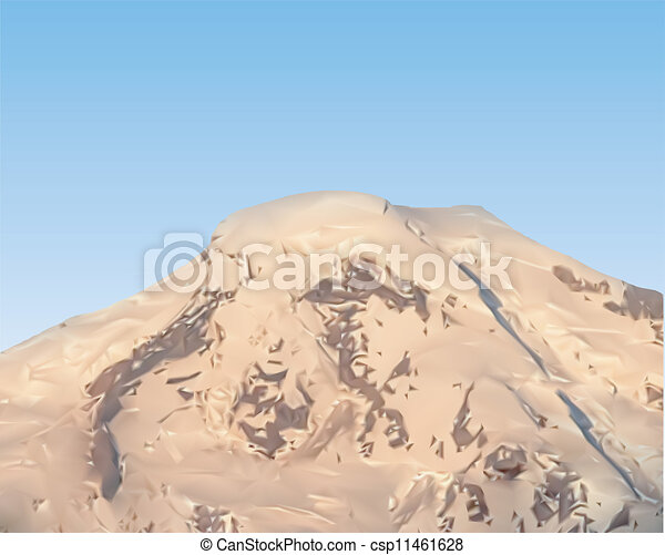 mountain vector - csp11461628