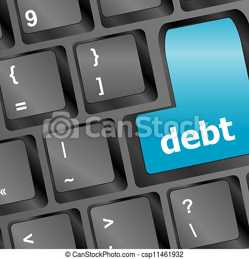 debt key in place of enter key - business concept - csp11461932
