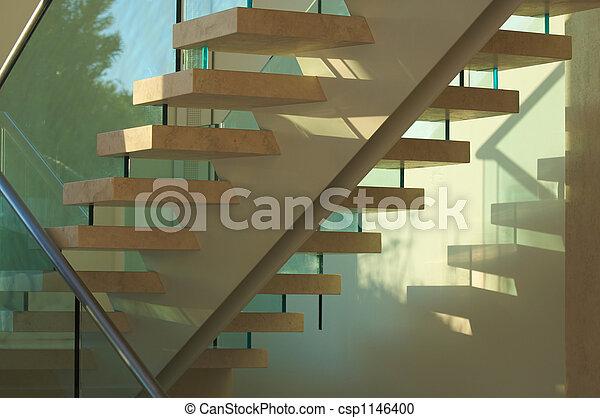 photographies de majestueux verre escalier marbre majestueux marbre csp1146400. Black Bedroom Furniture Sets. Home Design Ideas