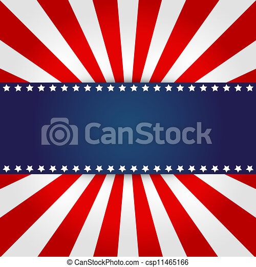 American flag design - csp11465166
