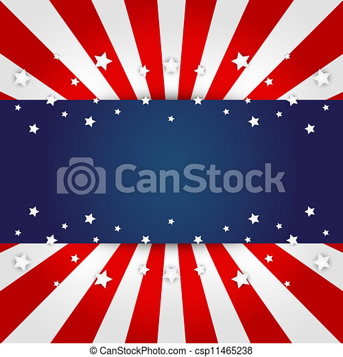 American flag design  - csp11465238