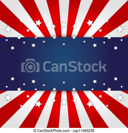American flag design  - csp11465238